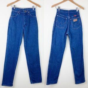VTG WRANGLER 12MWZG High Waist Denim Jeans Western